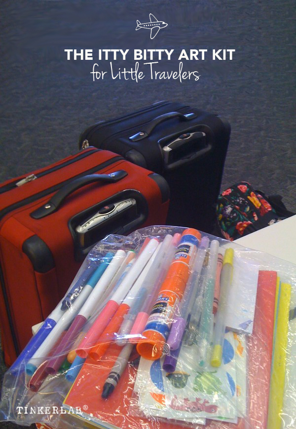 This will make traveling easier! And all of the supplies are easy to pull together in a matter of minutes.