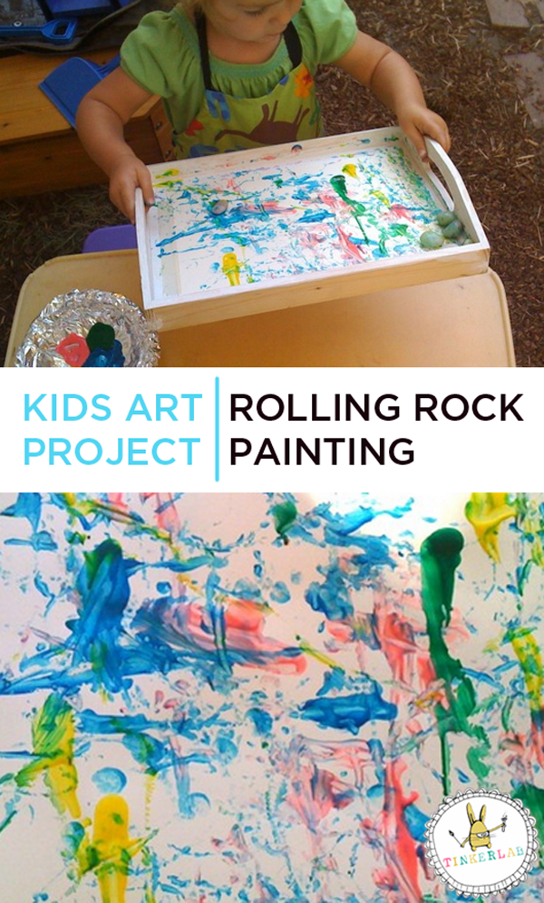 Kids Art Projects | Rolling Rock Painting | TinkerLab.com