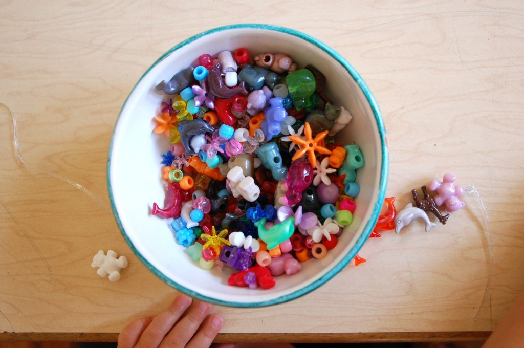 Stringing Beads For Toddlers by Stringing All Beads of