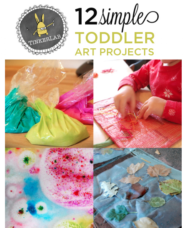 12 Simple Art Projects for Toddlers | TinkerLab.com