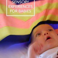 Sensory experiences for Babies