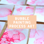 Bubble Painting Process Art