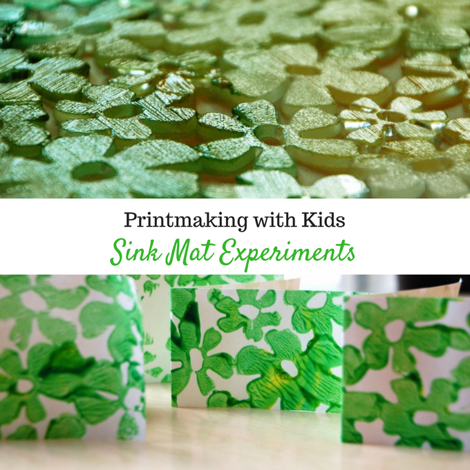 Printing making with Kids - Sink Mat Experiment