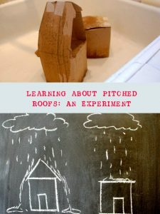 Learning about pitched roofs in preschool