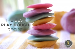 The best playdough recipe | How to Make play dough | Tinkerlab.com