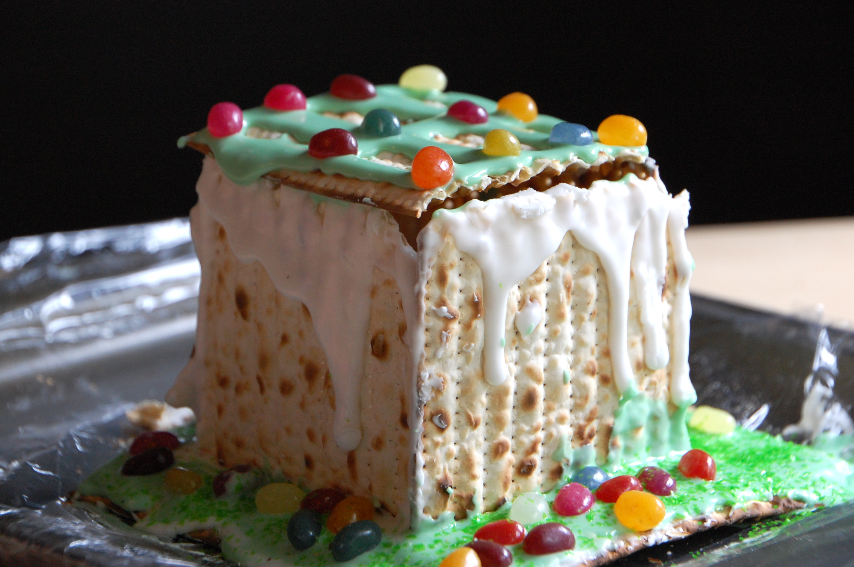 Matzoh gingerbread house