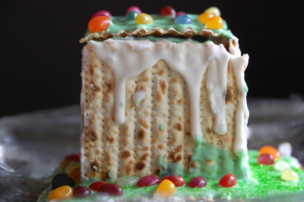 How to build a jellybean matzo house for Passover.