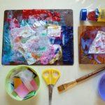 Glittery Collage with Acrylic Gloss Medium