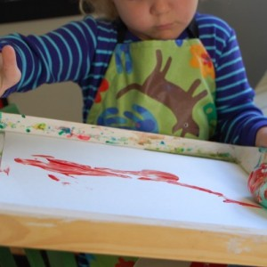Rolled Easter Egg Painting