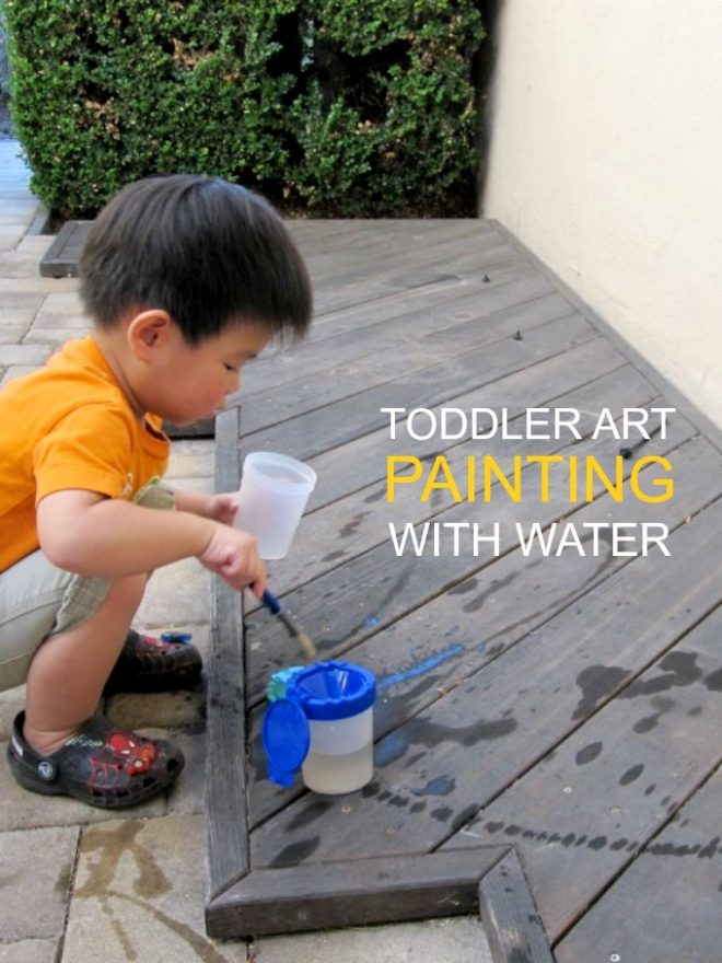 Toddler Art Painting with Water