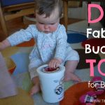 DIY Baby Fabric Bucket Toy