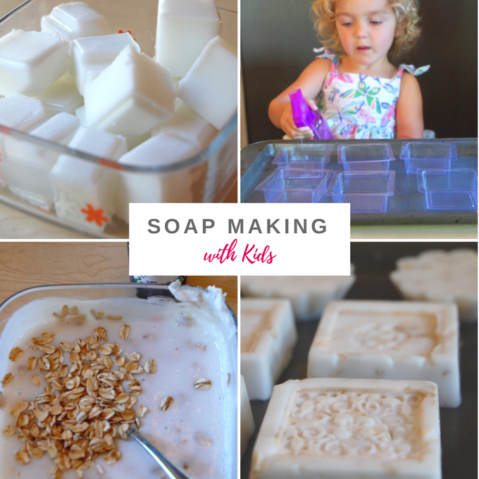 Soap making with kids