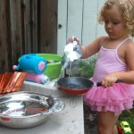 water play in the mud pie kitchen