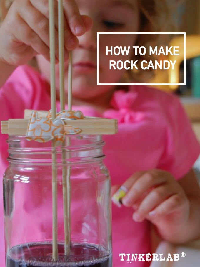 How to make rock candy on a stick