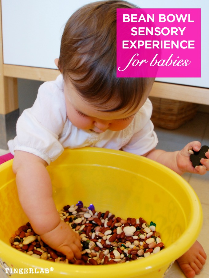 bean bowl sensory experience for babies