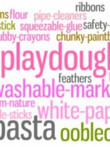 Toddler Art Supply List