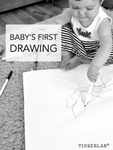 Baby's first drawing