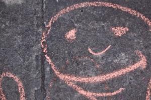 sidewalk chalk face