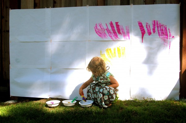painting the paper mural