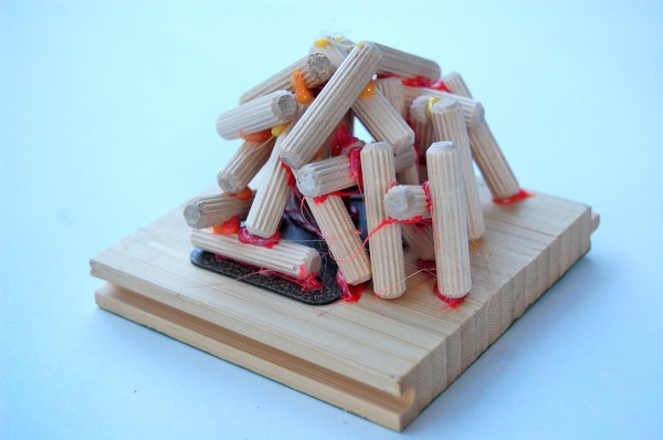dowel pin sculpture