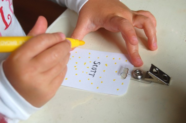 a little business make a name badge tinkerlab
