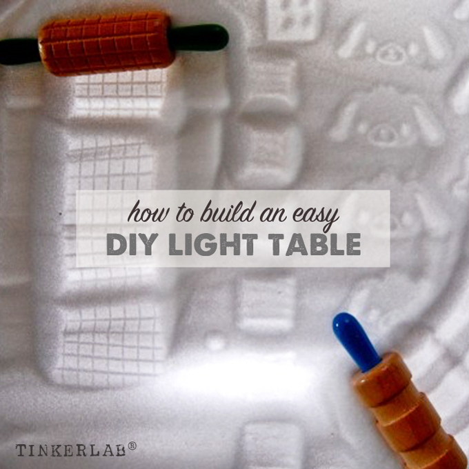 How to build an easy DIY light table for kids