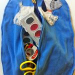 Upcycled On-The-Go Art Bag