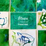 Painting with Straws in Preschool