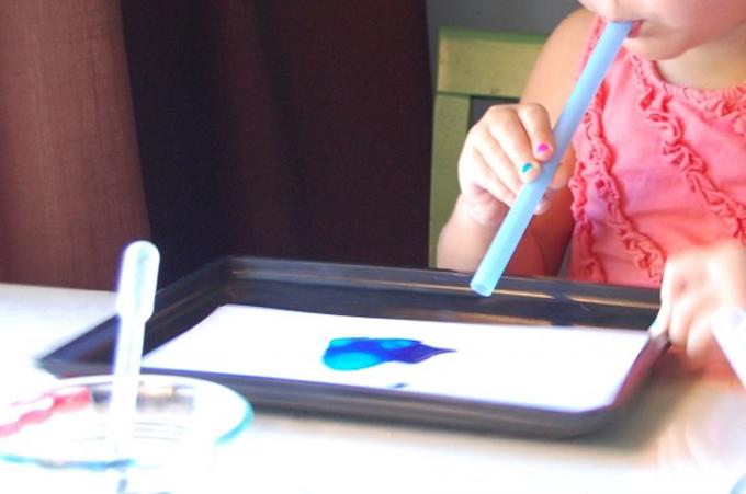 blow painting preschool