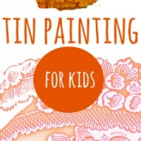 dia de los muertos tin painting