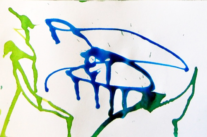 straw blown painting preschool