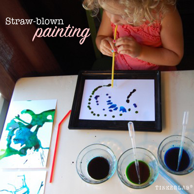 straw blown painting