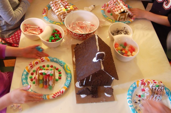 Gingerbread house kids table