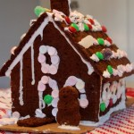 Gingerbread house with frosting