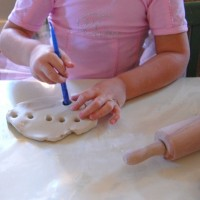 air dry clay menorah with kids
