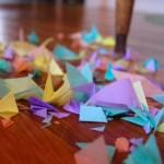 paper snowflake scraps