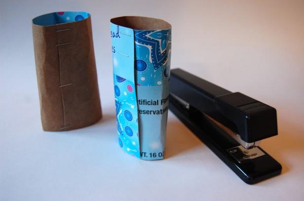 chipboard tube snowflake