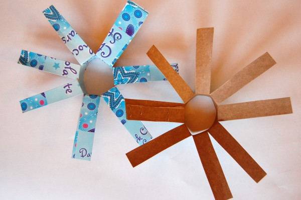 chipboard tube snowflake