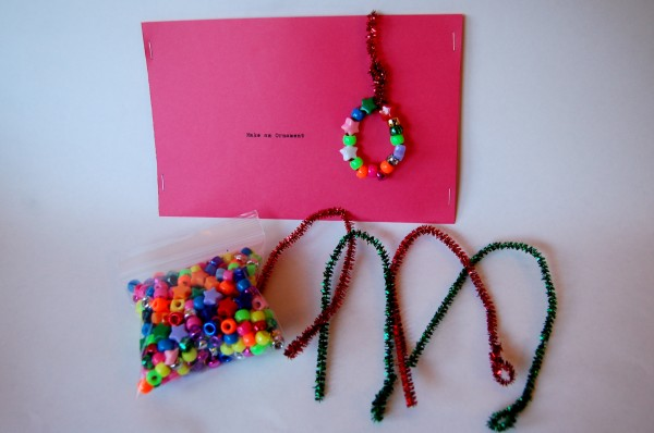 Easy handmade gifts | Make a beaded ornament kit | TinkerLab.com