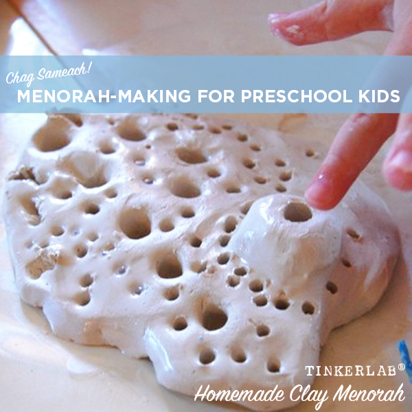 How to make clay menorahs in preschool | TinkerLab