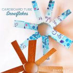 Make Cardboard Tube Snowflakes