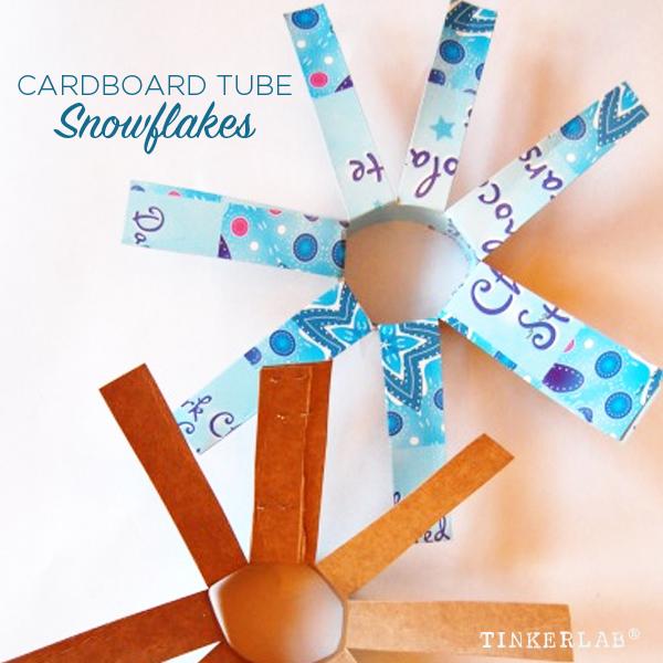 Cardboard Tube Snowflakes | TinkerLab