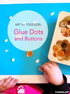 Art for Toddlers Glue Dots and Buttons
