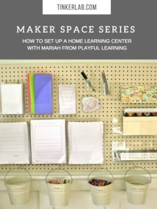 How to set up a home learning space from Playful Learning