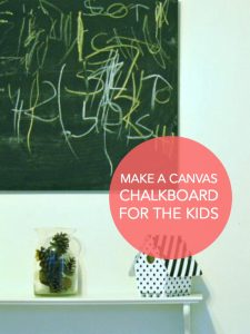 Make a canvas chalkboard for the kids