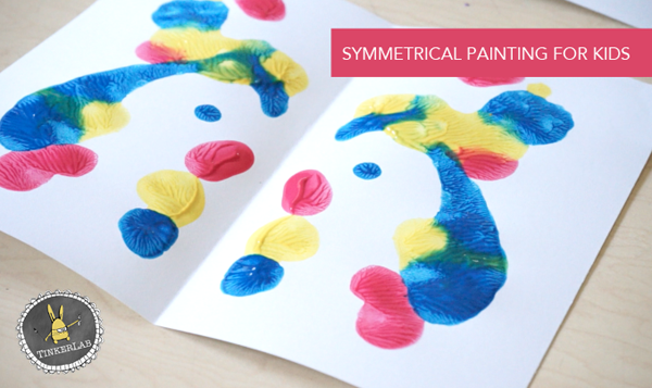 This is so fun! Symmetrical Painting with Kids.