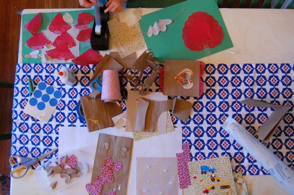 paper bag art table