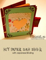 DIY Paper Bag Book with Japanese Binding {Free Download}