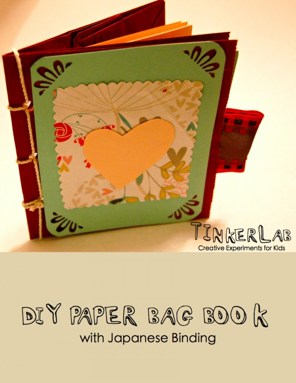 Book Cover From A Paper Bag : Diy paper bag book with japanese binding free download