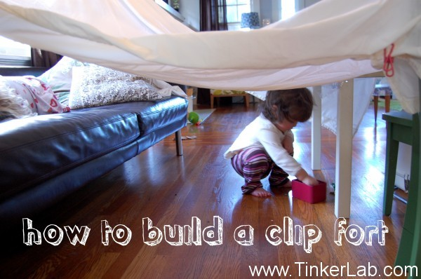 How To Build A Simple Clip Fort Tinkerlab
